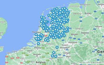 NL kaart gevonden schildpadden